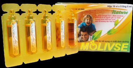 Molivse   Dầu ăn bổ sung vi chất dinh dưỡng cho trẻ