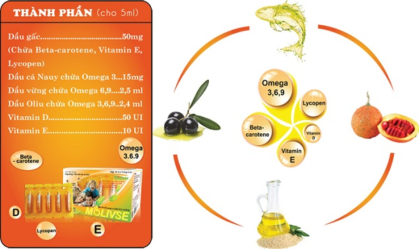 Dầu ăn bổ sung vi chất dinh dưỡng MOLIVSE